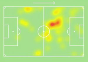 Inter-Fiorentina Heatmap Sanchez