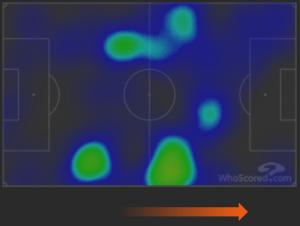 Inter-Ludogorets Heatmap D'Ambrosio ed Eriksen