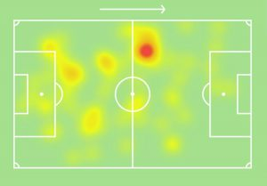 Inter-Napoli Brozovic heatmap