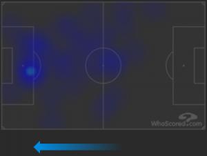Verona-Inter Lukaku Heatmap